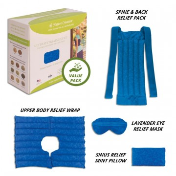 Nature Creation Ultimate Treatment Set- Herbal Heating Pad / Cold Pack - Hot and Cold Therapy